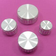 Control Cap Knurled Pot Silver Aluminum Potentiometer Knob for 6 mm Shaft