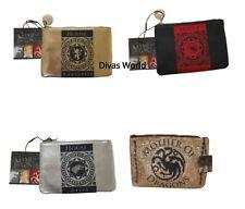 Game Of Thrones Make-Up Bag Coin Purse Gold Glitter Silver Red Khaleesi Primark