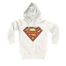 DC Comics - Superman Logo Pull-over - Sweatshirt à capuche pour enfant, blanc