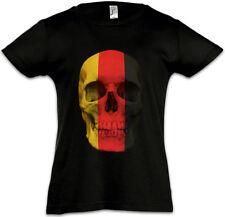 GERMANY GERMAN SKULL FLAG Kinder Mädchen T-Shirt Deutschland Germany Berlin