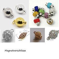 Magnetverschlüsse Magnetschließen Schließe rose gold silber  bronze  mit Straß