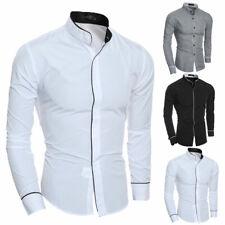 Fashion Men's Luxury Long Sleeve Shirt Casual Slim Fit Stylish Dress Shirts Tops