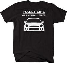 Rally Life - Gas Clutch Shift - Racing Subie Car Turbo JDM  Tshirt