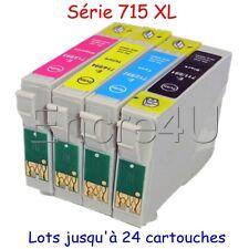 Lot de cartouches d'encre compatibles epson non-oem T711 T712 T713 T714 T715