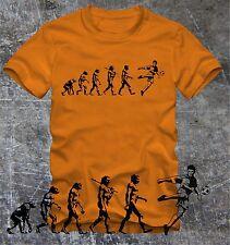 "T- Shirt  Fussball   Evolution  viele Farben   ""Digitaler Direktdruck"""