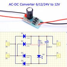AC-DC 6/12/24V a 12V full-Puente rectificador Filtro Módulo de Fuente de alimentación