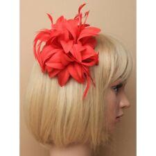 JOLI ROUGE VIF pétale fleur pince cheveux fête Noël FASCINATEUR