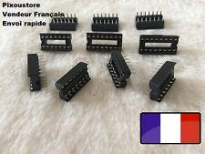 Lot de supports Lyre pour circuit intégré 14 broches, lot au choix. DIP 14 4-60