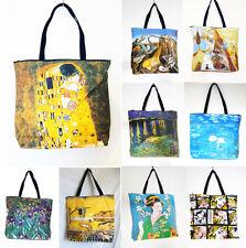 OVERNIGHT /SCHOOL/FLIGHT/SPORTS bag, REPRODUCTION of Salvador Dali, Gustav Klimt