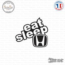 Sticker JDM Eat Sleep Honda Decal Aufkleber Pegatinas D-163 Couleurs au choix
