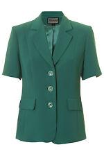 Busy Jade Green Short Sleeve Ladies Jacket