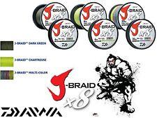 DAIWA J-Braid X8 300m oder 1500m / verschidene Stärken und Farben