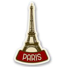 2 x Parigi Francia Adesivo Vinile iPad Laptop Auto Viaggio Bagagli Tag mappa REGALO # 4619