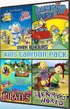 DVD KIDS CARTOON PACK Over 5 Hrs Pirates Henrys World Pumper Pups Lunar Jim NEW