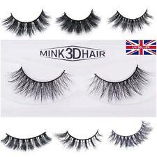 3D Mink Eyelashes natural Fake thick hand made Lashes Makeup UK STOCK