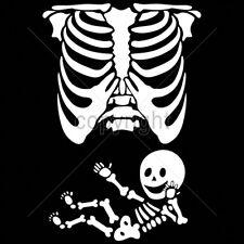 Mother Baby Mom Skull Skeleton Pregnant Mother Child Bones Funny Fun T-Shirt Tee