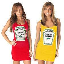 Choose Color Juniors Heinz Mustard Or Ketchup Bottle Costume Tank Dress