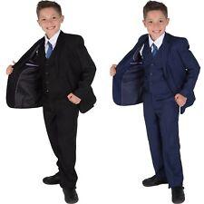 5 Piezas Niño Traje de Boda Vestido Graduación Página Formal Azul Negro 2-12 Año