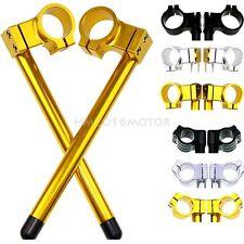 31-55MM Clip-On Handlebars 7/8''Clip ons Handle bars Regular Riser CNC Fork Tube