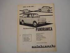 advertising Pubblicità 1961 BIANCHINA   PANORAMICA