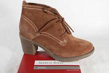 Marco Tozzi Botas Mujer Botas botines botas de invierno piel marrón NUEVO