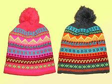 spesso Donna Cappello a palloncino inverno berretto beretto da sci colore scelta