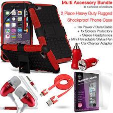 Antiurto Heavy Duty telefono Dual Layer Custodia Cover ✔ valore Accessorio Pack ✔ Rosso