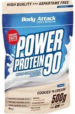 Power Protein 90 Body Attack (500g im Beutel; 3,19 EUR/100g) + 5EUR-Gutschein