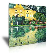 Gustav KLIMT Schloss mirando en el lago Attersee lienzo enmarcado impresión ~ más tamaño