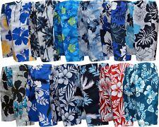 Mens Boys Summer Floral Print Beach Shorts Surf Board Swim Shorts S - XXL