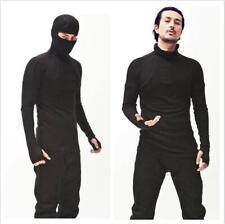 New Mens Ninja shirts Kung Fu Hooded Uniform Martial Arts Tai Chi Tops T-shirt
