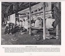 1897 impresión VICTORIANO ~ India ~ Alfombra Tejido Alfombras Orientales Hecho a Mano Telares