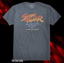 New Street Fighter Main Screen 1987 Capcom Mens Vintage T-Shirt