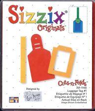 Sizzix Originals LUGGAGE TAG #1 New 38-1146 Super Cute!