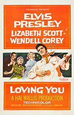 """LOVING YOU "" ELVIS PRESLEY 1957 Retro Movie Poster A1A2A3A4Sizes"