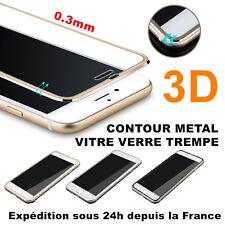iPhone 7 6 6s Plus 3D VITRE verre trempe Film protection ALUMINIUM total écran