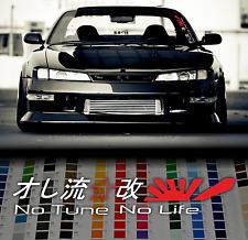 JDM kanji japanese sticker No Tune No Life windshield car window sticker