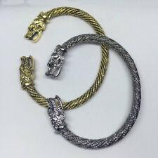 Wolf Head Bracelet Vintage Viking Norse Bangle Men Women Wristband Cuff Jewelry