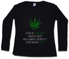 CANNABIS LEAF POEM DAMEN LANGARM T-SHIRT Marihuana Weed Ganja Marijuana Smoke