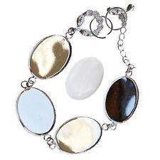 18x24mm Silver OVAL BRACELET Chain Blank Cabochon Glass Jewellery Setting CRAFT