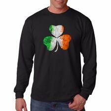 Irish lucky Clover Leaf IRELAND Saint Patricks black cotton t-shirt TC9304
