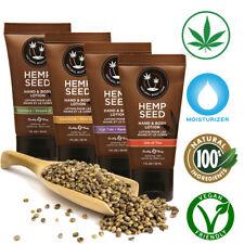 Earthly Body Hemp Seed Lotion Natural Oil Vegan Anti-Aging Skin Hand Moisturizer