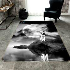 3D Animaux Les Loups 117 Étage Antidérapant Natte Élégant Tapis FR Tiffany