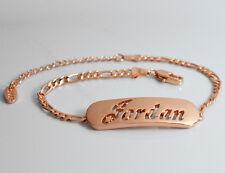 Plaqué or 18k Bracelet Prénom 'JORDAN' Noël Christmas Demoiselle d'honneur Mode