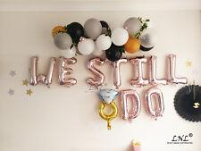 Rose Gold Balloons Mr Mrs We Do Wow Love Engaged I Do Hooray Lemonade Cake Baby