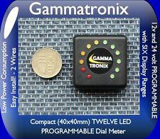 Gammatronix 12v 24v  LED battery monitor level meter indicator gauge bike car N