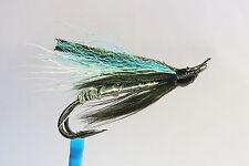 1 x mouche Saumon BLUE SMELT DOUBLE hook salmon steelhead hairwing fliegen lachs