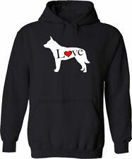 Love Australian Cattle ACD Blue Heeler Dog Unisex Mens Hoodie Sweater Lover Gift