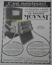 PUBLICITE BAGAGE MOYNAT MALLE AUTOMOBILE 1923 FRENCH ADVERT CAR PUB RARE
