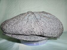 GENTS PEAKED NEWSBOY BAKER BOY GATSBY CAP 61 CM 7 & 1/2 XL CHOICE OF 4 COLOURS